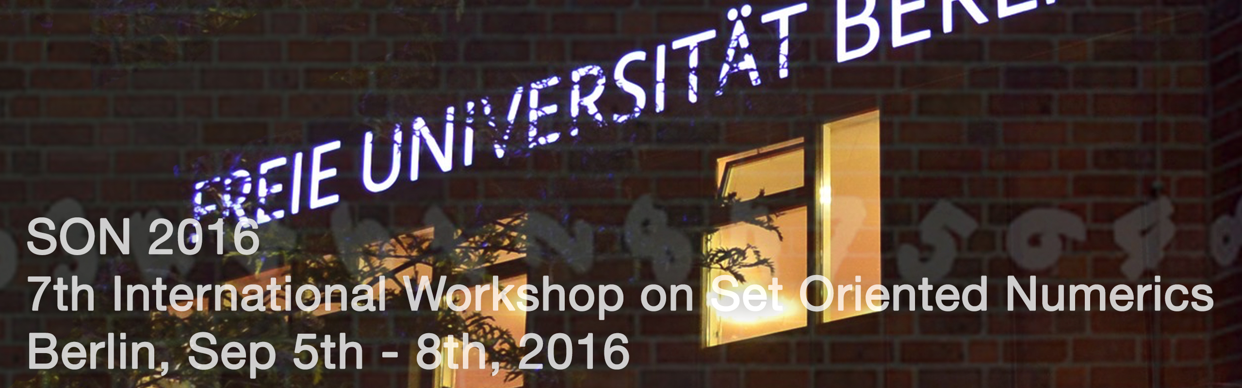 SON 2016 - 7th International Workshop on Set Oriented Numerics
